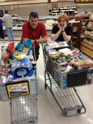 Food shopping for Canyonlands 2012