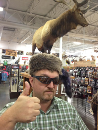 Chris and the moose