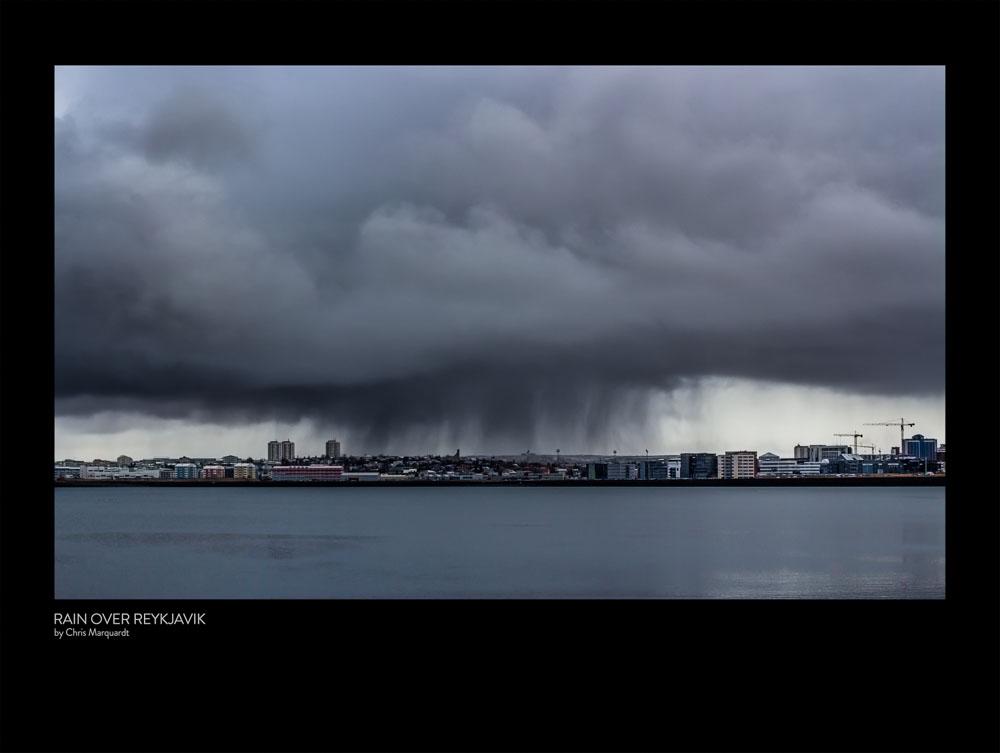 RAIN OVER REYKJAVIK