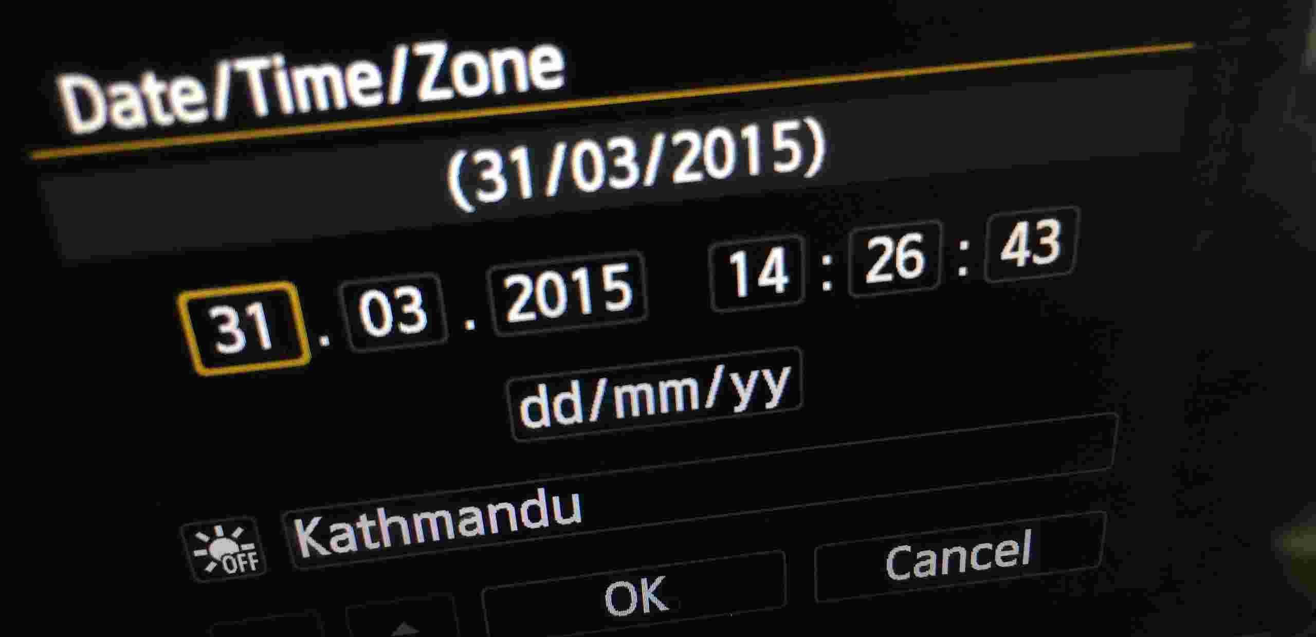 Camera Date Time