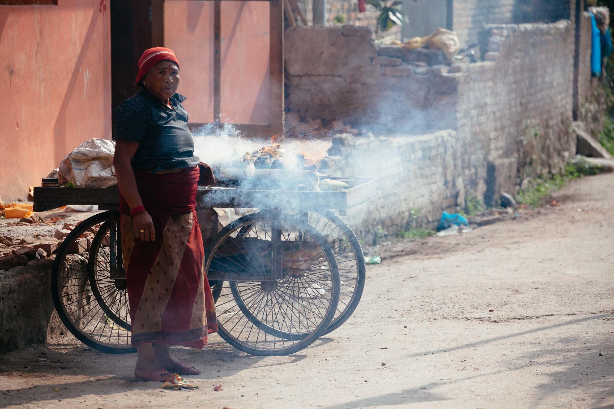Kathmandu Street Vendor, Nepal Jun 2015