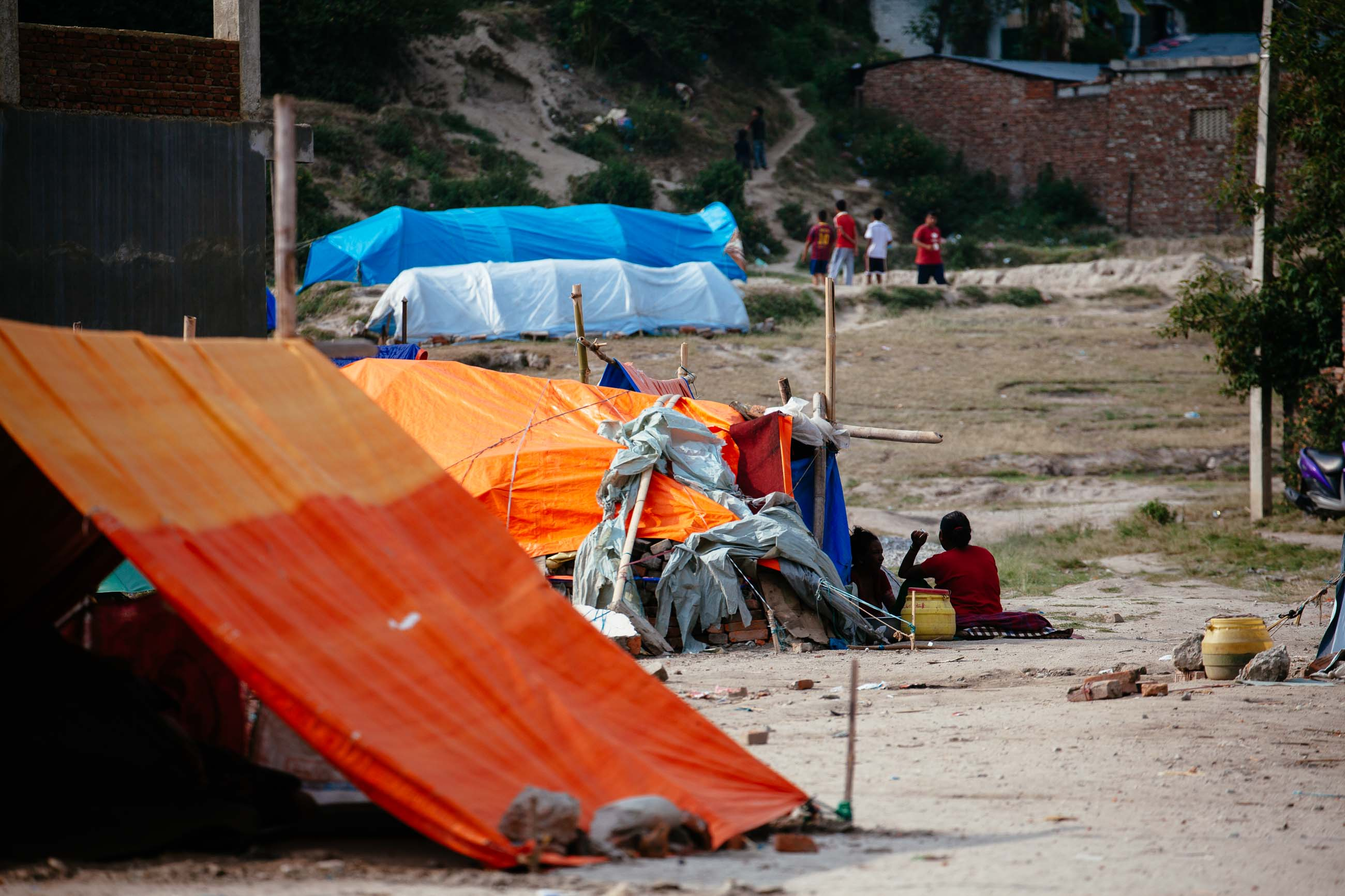 Tents in Kathmandu, Nepal Jun 2015