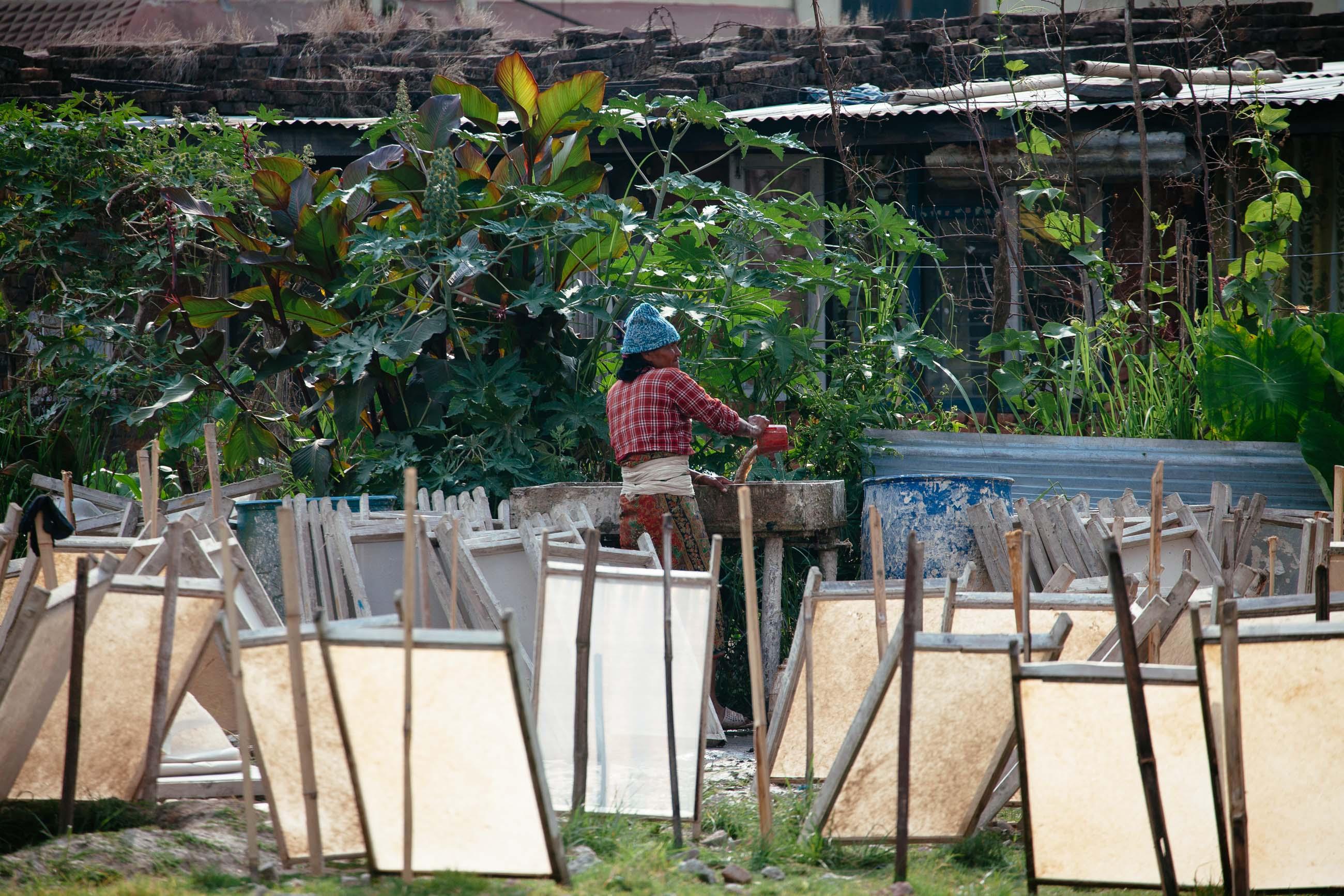 Making Paper in Kathmandu, Nepal Jun 2015