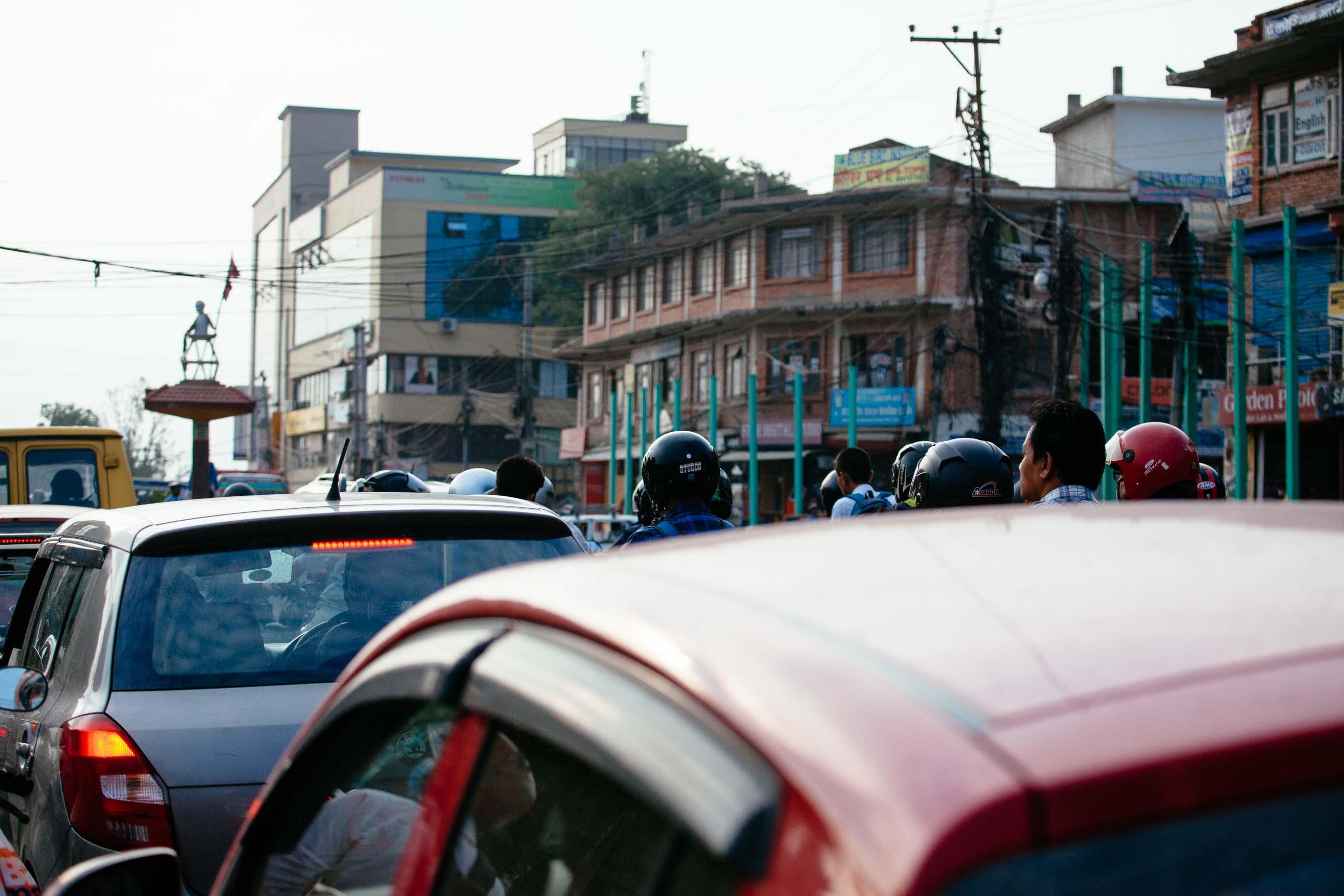 Kathmandu Traffic, Nepal, Jun 2015