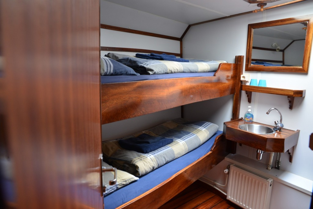 The Noorderlicht has 20 berths in 10 cabins.