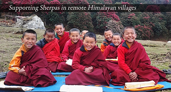 Sherpas in remote Himalayan villages
