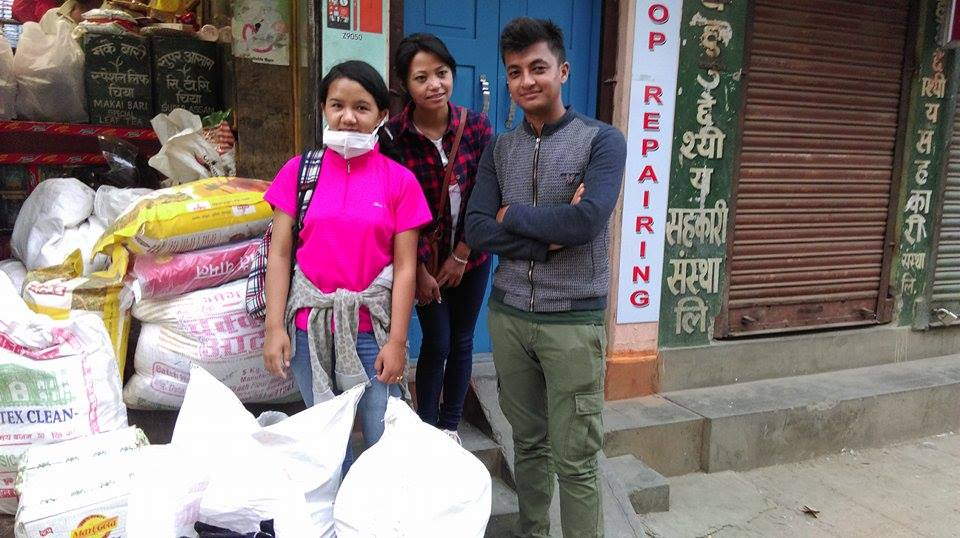 Supplies for the earthquake victims of Sindhupalchowk district